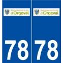 78 Orgeval logo autocollant plaque stickers ville