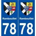 78 Rambouillet blason autocollant plaque stickers ville