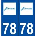 78 Sartrouville logo autocollant plaque stickers ville
