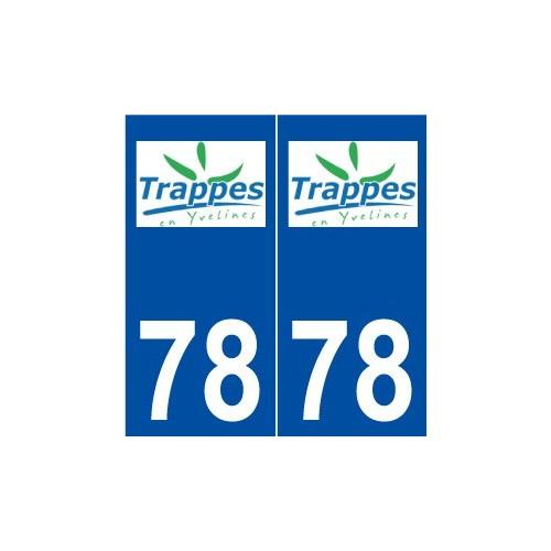 78 Trappes logo autocollant plaque stickers ville