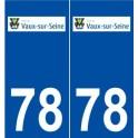 78 Vaux-sur-Seine logo autocollant plaque stickers ville