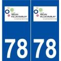 78 Vélizy-Villacoublay logo autocollant plaque stickers ville