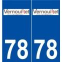 78 Vernouillet logo autocollant plaque stickers ville