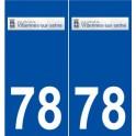 78 Villennes-sur-Seine logo autocollant plaque stickers ville