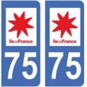 75 Paris sticker plate