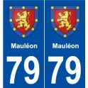 79 Mauléon coat of arms sticker plate stickers city