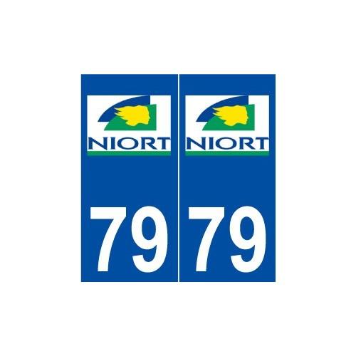 79 niort logo autocollant plaque immatriculation stickers ville. Black Bedroom Furniture Sets. Home Design Ideas