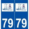 79 Parthenay logo sticker plate stickers city