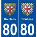 80 Doullens blason autocollant plaque stickers ville
