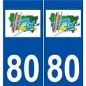 80 Ham logo autocollant plaque stickers ville