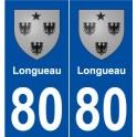 80 Longueau blason autocollant plaque stickers ville