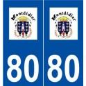 80 Montdidier logo sticker plate stickers city