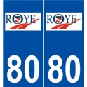 80 Roye logo autocollant plaque stickers ville
