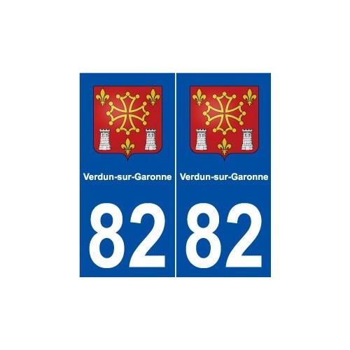 82 Verdun-sur-Garonne blason autocollant plaque stickers ville