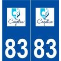 83 Cogolin logo sticker plate stickers city