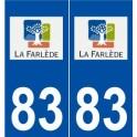 83 La Farlède logo autocollant plaque stickers ville