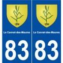 83 Le Cannet-des-Maures blason autocollant plaque stickers ville