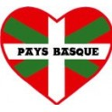 Sticker heart of the Basque country sticker