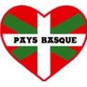 Autocollant coeur pays Basque sticker
