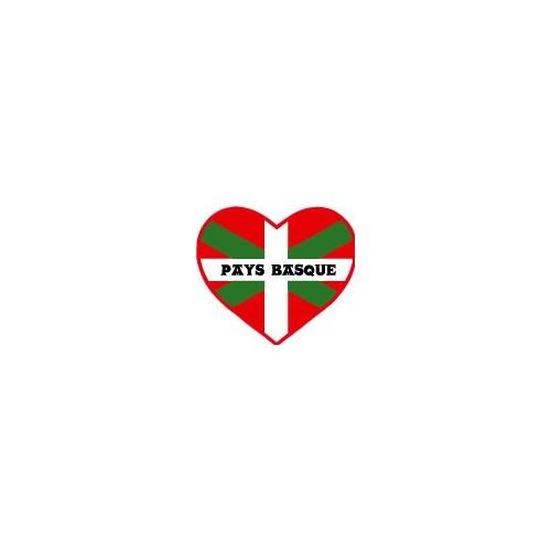 Taille Autocollant Pays Basque euskadi euskal herria Drapeau logo2 12 cm