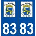 83 Sollies-Pont logo sticker plate stickers city