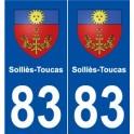 83 Solliès-Toucas blason autocollant plaque stickers ville