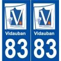 83 Vidauban logo sticker plate stickers city