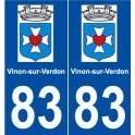 83 Vinon-sur-Verdon logo autocollant plaque stickers ville