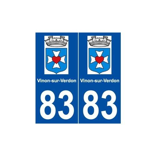 83 vinon sur verdon logo autocollant plaque for Piscine vinon sur verdon