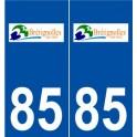 85 Bretignolles-sur-Mer logo sticker plate stickers city