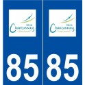 85 Chantonnay logo autocollant plaque stickers ville