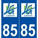 85 The Garnache logo sticker plate stickers city