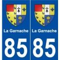 85 La Garnache blason autocollant plaque stickers ville