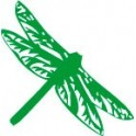 Sticker dragonfly stickers green color