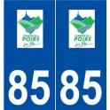 85 Le Poiré-sur-Vie logo sticker plate stickers city