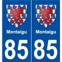 85 Montaigu blason autocollant plaque stickers ville