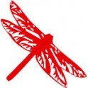 Sticker dragonfly stickers color