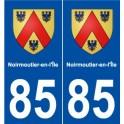85 Noirmoutier-en-l'ile coat of arms sticker plate stickers city