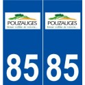85 Pouzauges logo sticker plate stickers city