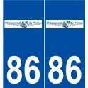 86 Chasseneuil-du-Poitou logo autocollant plaque stickers ville