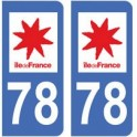 78 Yvelines sticker plate