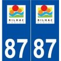 87 Rilhac-Rancon logo autocollant plaque stickers ville
