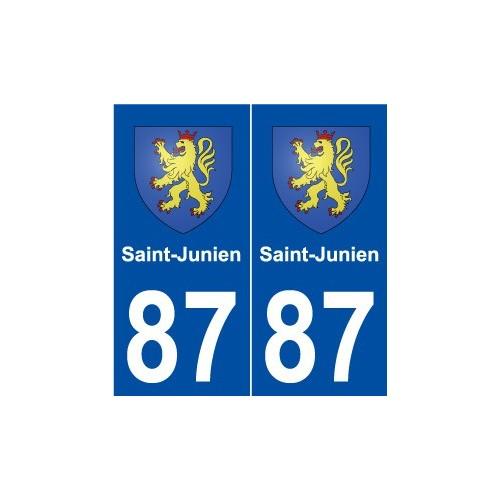 87 Saint-Junien blason autocollant plaque stickers ville