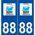 88 Gérardmer logo autocollant plaque stickers ville