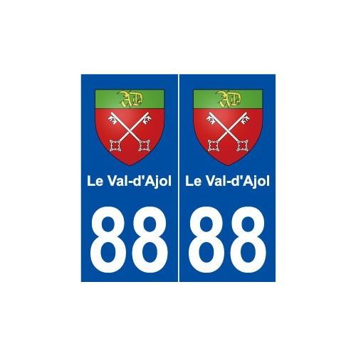 88 Le Val-d'Ajol blason autocollant plaque stickers ville