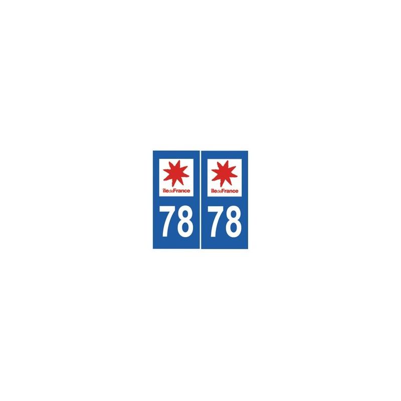 autocollant 78 plaque immatriculation blason d partement 78 yvelines. Black Bedroom Furniture Sets. Home Design Ideas