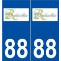 88 Rambervillers logo autocollant plaque stickers ville