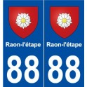 88 Raon-step coat of arms sticker plate stickers city
