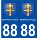 88 Saint-Dié-des-Vosges blason autocollant plaque stickers ville