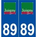 89 Joigny logo sticker plate stickers city